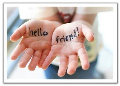 Hello Friend Hands