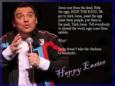 Carlos Mencia on Easter