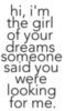 girl of ur dreams