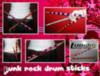 Pink rock drum sticks