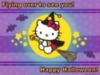 Hello Kitty Flying over to see you! Happy Helloween!