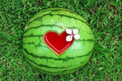 Summer watermelon heart