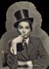 Retro Girl with Cigar