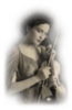 Retro Girl with violin