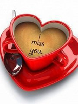 I miss you Heart cup