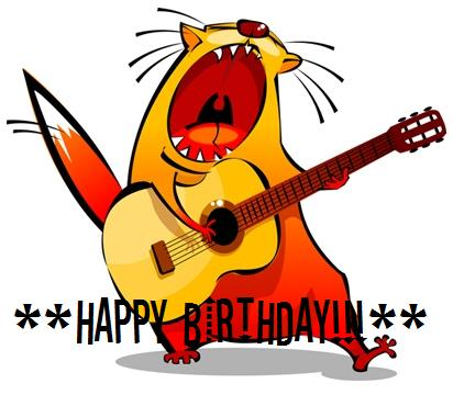 Happy Birthday! Cat singer