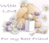 With Love for my Best Friend Teddy Bear with flowers