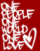 One people one world one love Heart