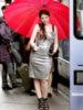 Michelle Trachtenberg with umbrella