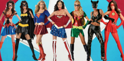 Superheroes girl costumes