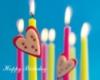 Happy Birthday Candles Hearts