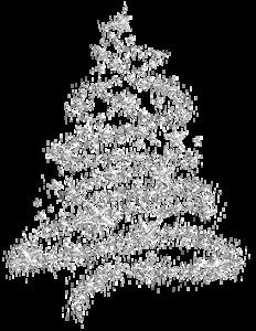 Silver stars Christmas Tree