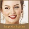 Happy Thanksgiving! Leighton Meester