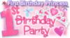 1st Birthday Princess Party