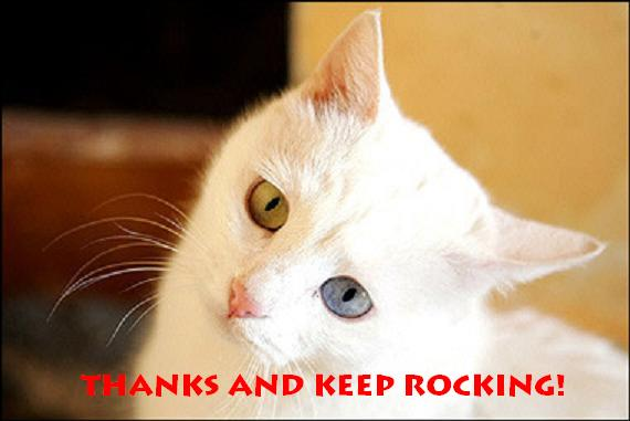Thanks and keep rocking!
