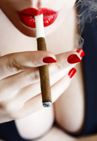 Flirty Girl Smoking