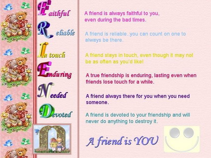 A Friend Is You