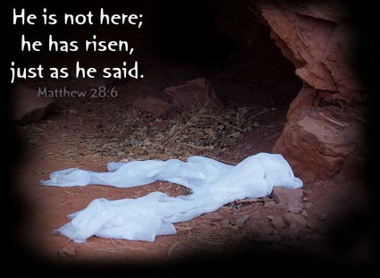 He Is Not Here He Has Risen Just As He Said
