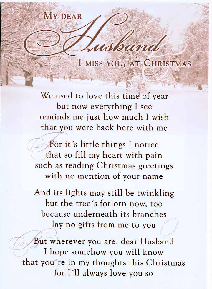 My Dear Husband I miss You, at Christmas