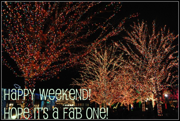 Happy Weekend! Hope it's a fab one!