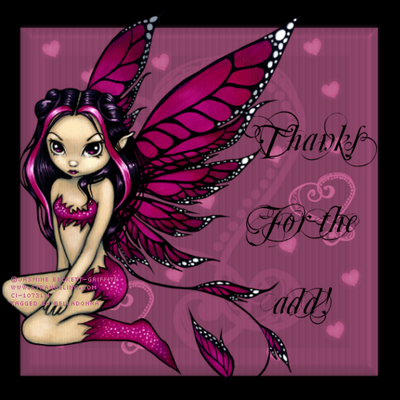 Thanks For The Add! Violet Wings