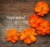 Happy Weekend. Orange Flowers