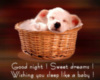 Good Night! Sweet Dreams! Wishing you sleep like a baby!