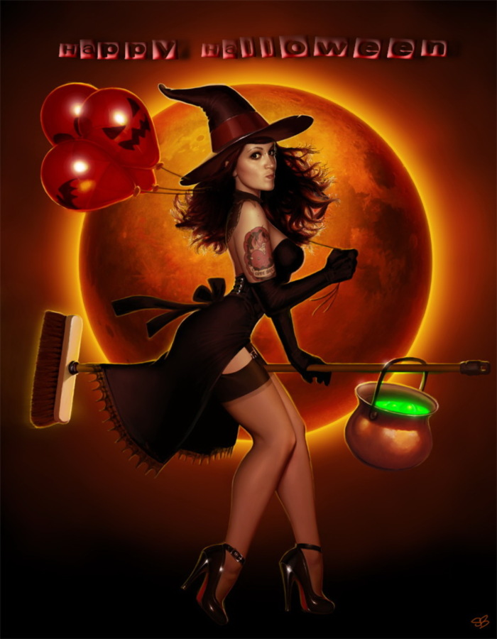 Happy Halloween--Sexy Witch