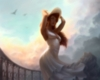 Fantasy Sexy Girl in White Dress