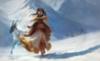 Fantasy Girl in Snowland