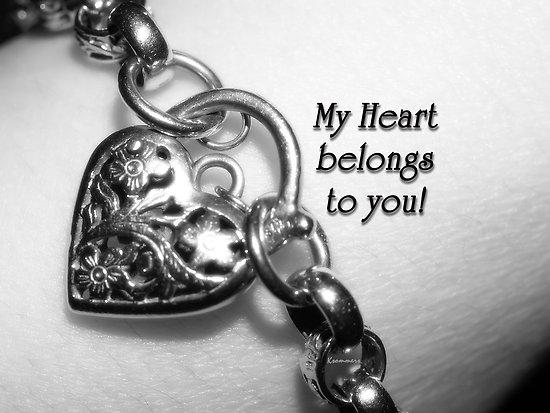 My heart belongs to you!