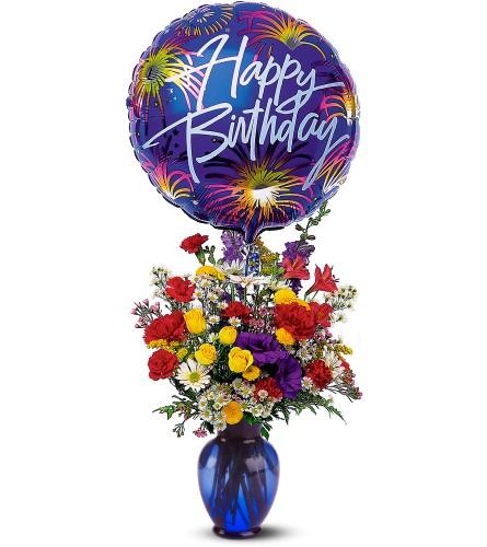 Happy Birthday -- Flowers