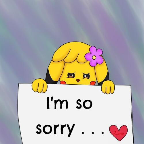I'm so sorry... -- Anime