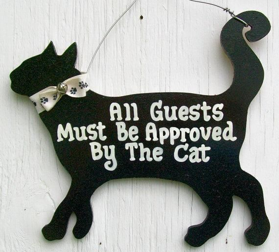 LOL Cat: All Guests Must Be Approved By The Cat