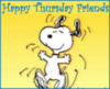 Happy Thursday Friends -- Snoopy