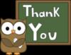 Thank You -- Cute Owl