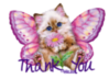 Thank You -- Kitten with Flower