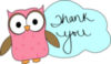 Thank You -- Cute Owl