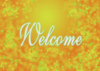 Welcome - autumn leaves