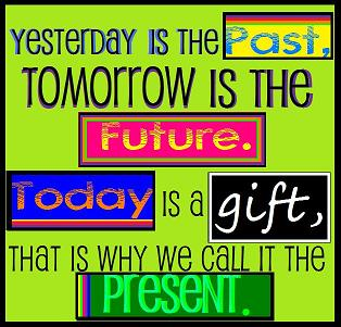 Yesterday Is The Past Tomorrow Is The Future