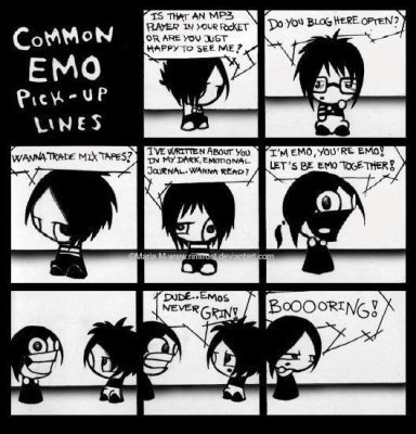 Common Emo Pick Up Lines