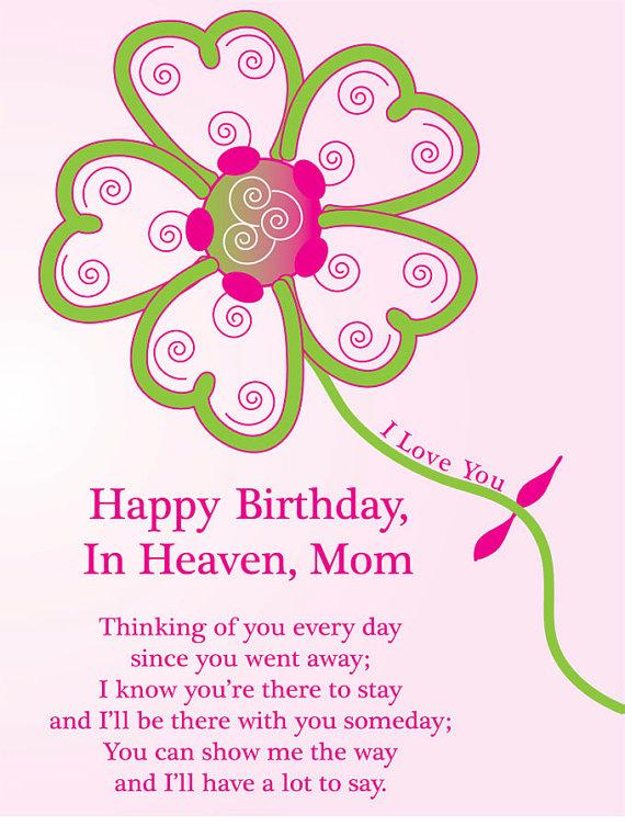 Happy Birthday, in Heaven, Mom!