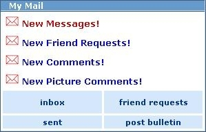 Myspace New Messages