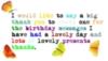Thanks -- Birthday