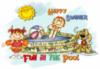 Happy Summer Fun in the Pool