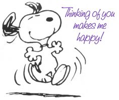 Thinking of You Makes Me Happy! -- Snoopy