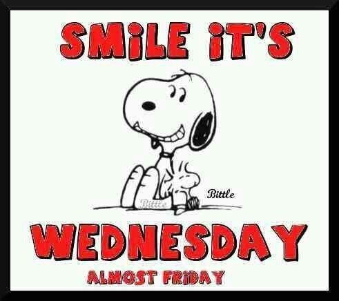 Smile It's Wednesday Almost Friday -- Snoopy