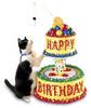 Happy Birthday cat cake