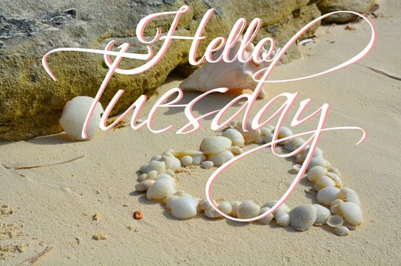 Hello Tuesday -- Heart on the Beach