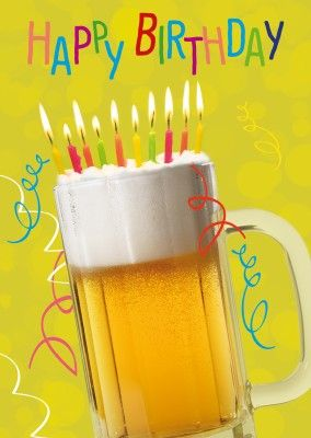 Happy Birthday -- Beer with Candles
